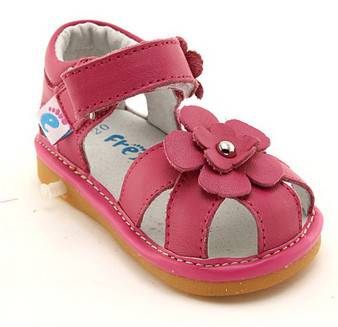 "Freycoo ""River"" Hot Pink Leather Sandals"