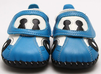"Freycoo ""Racer"" Blue Soft Sole Leather Shoes"
