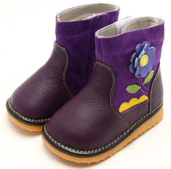"Freycoo ""Grow"" Purple Leather Boots"