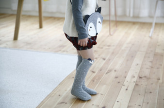 Ma Mer Raccoon Knee High Socks