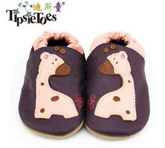 """Tipsie Toes """"Giraffe"""" Leather Soft Sole Shoes"""