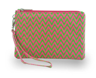 Mimpi Mannis Zigzag Coin Purse Green