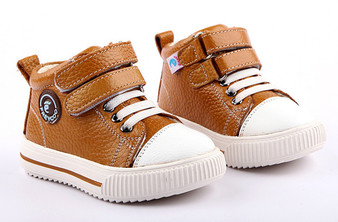 "Freycoo ""Tuf"" Caramel Leather Hi Top Shoes"
