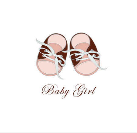 Baby Girl Card Shoes