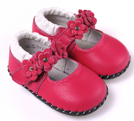"""Caroch """"Wonder"""" Hot Pink Leather Soft Sole Shoes"""