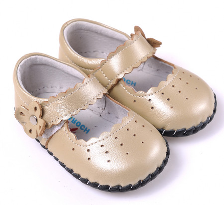 """Caroch """"Angelic"""" Gold Leather Soft Sole Shoes"""