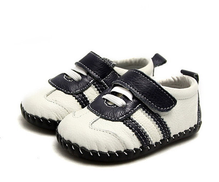"""Freycoo """"Sneaky"""" White Leather Soft Sole Shoes"""