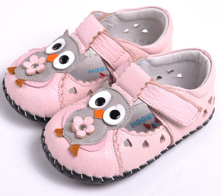 """Caroch """"Hootabelle"""" Pink Leather Soft Sole Shoes"""
