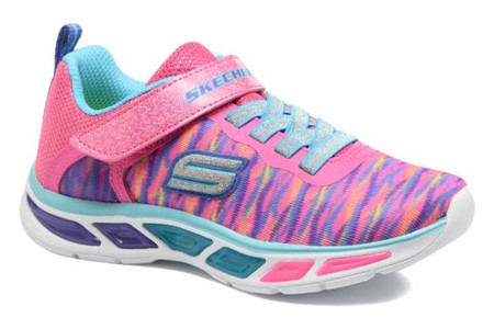 Skechers Litebeams Neon Pink Light Up Girls Sneakers
