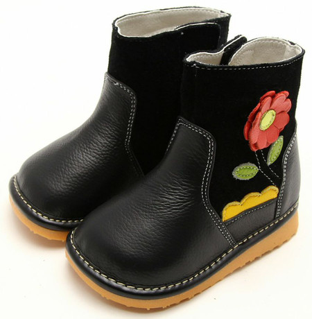 "Freycoo ""Grow"" Black Leather Boots"