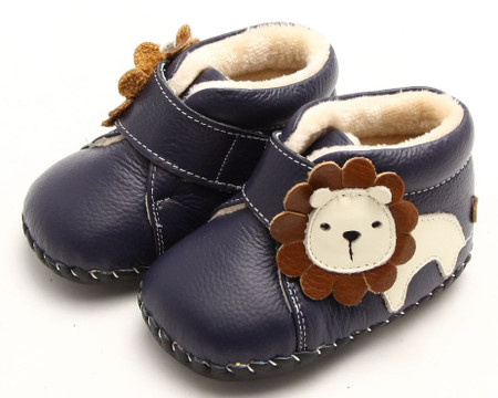 """Freycoo """"Roar"""" Navy Soft Sole Leather Boots"""