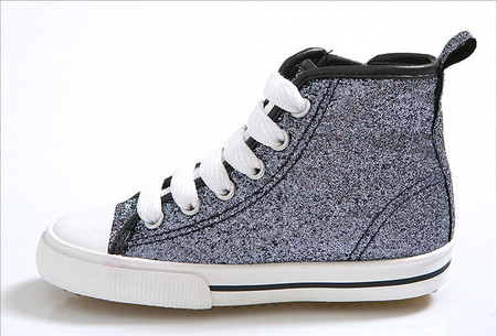 EZ Shoes Glitter High Tops Black