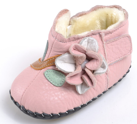 """Caroch """"Luxury"""" Pink Leather Soft Sole Boots"""