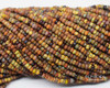 10/0 Aged Rustic Brown Striped Picasso Mix (1/4 Kilo)