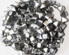 6mm Silky Silver 2 Hole Pyramids (150 Pieces)