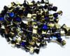 6mm California Blue 2 Hole Pyramids (150 Pieces)