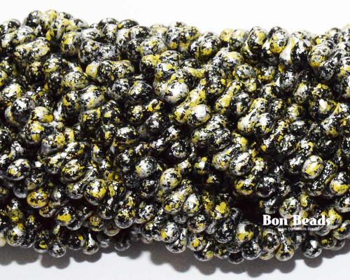 3x6mm Granite Galaxy Yellow Farfalles (1/4 Kilo)