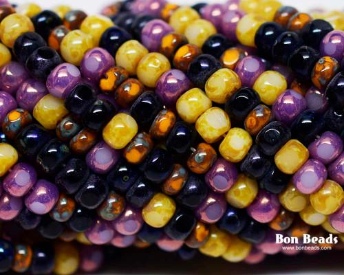 6/0 3 Cut Purple Rain Picasso Mix (1/4 Kilo)