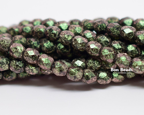 4mm Van Gogh Olivine Round Fire Polished (600 Pieces)