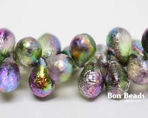6x9mm Magic Orchid Etched Drops (150 Pieces)