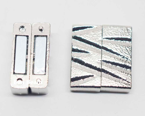 25x22x7mm Silver Magnetic Z Bar Clasp (Each)