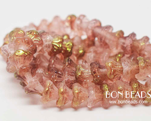 7x5mm Crystal Rose Luster Flower Cups (300 Pieces)
