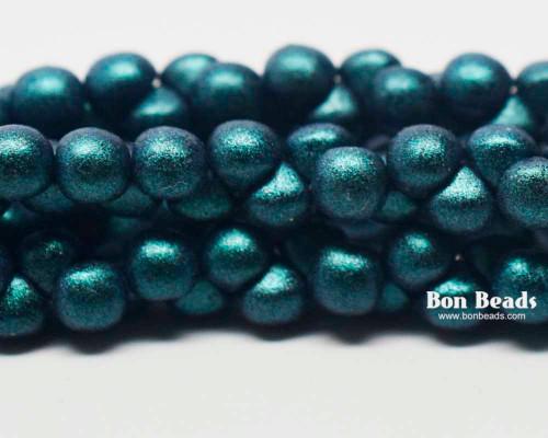 4mm Green Iris Wide Cap Mushroom Buttons (600 Pieces)