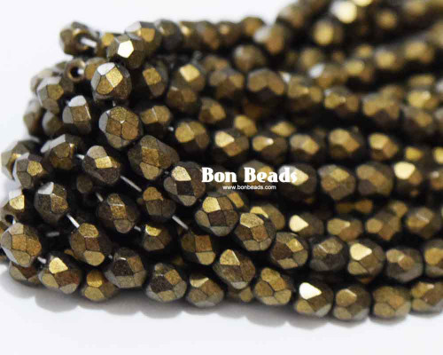 4mm Copper Miracle Iris Round Fire Polished (600 Pieces)