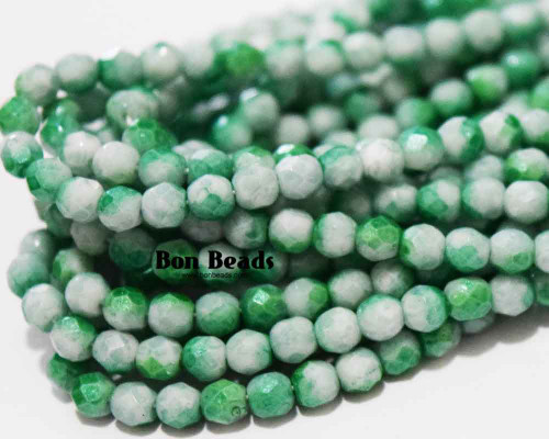 4mm Green Peppermint Round Fire Polished (600 Pieces)