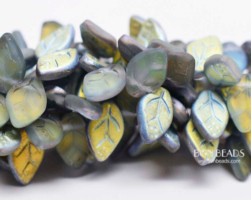 12x7mm Matted Vitex Leaves (300 Pieces)