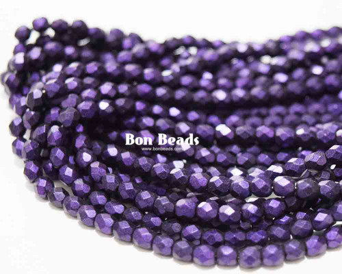 4mm Eggplant Miracle Iris Round Fire Polished (600 Pieces)