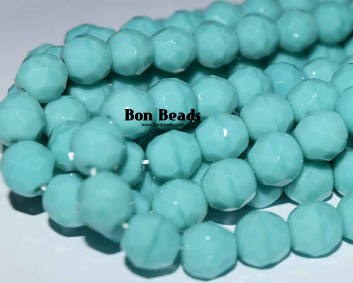 8mm Green Turquoise Round Fire Polished (300 Pieces)