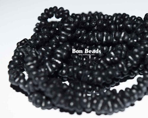 3x6mm Black Etched Farfalles (1/4 Kilo)