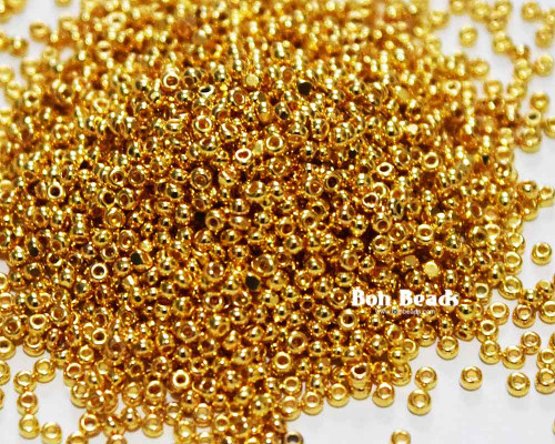 15/0 Plated 24KT Gold Charlottes (25 Grams)
