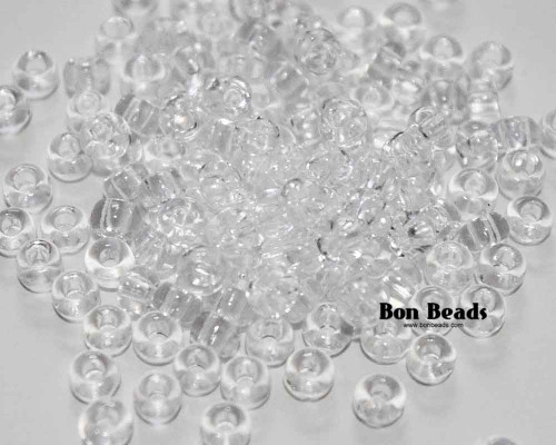 8/0 Crystal Round Seed Beads (100 Grams)