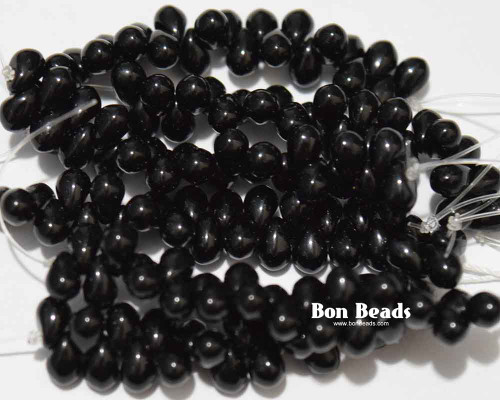 4x6mm Black Drops (300 Pieces)