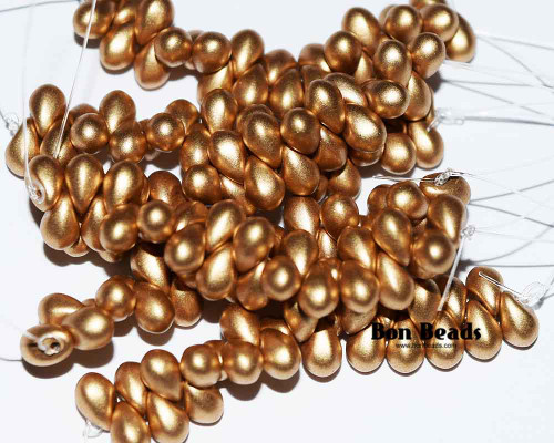 4x6mm Aztec Gold Drops (300 Pieces)