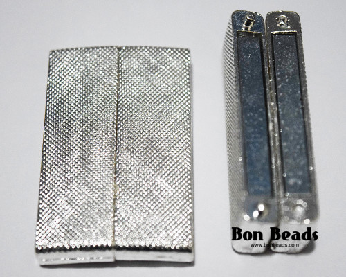 40x24x7mm Silver Wide Magnetic Bar Clasp (Each)