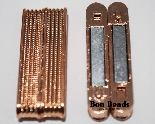38X14X7mm Copper Ridge Magnetic Bar Clasp (Each)