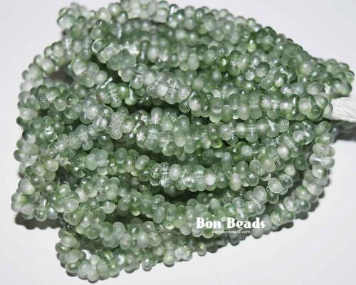 3x6mm Crystal Light Green Lumi Etched Farfalles (1/4 Kilo)