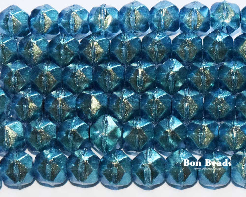 10mm Transparent Cerulean English Cuts (150 Pieces)