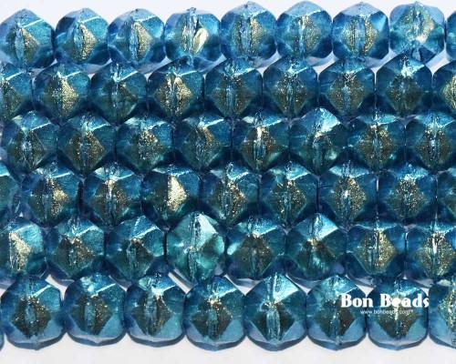 10mm Transparent Cerulean English Cuts (150 Pieces)
