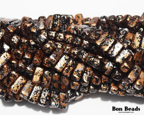 3x6mm Granite Galaxy Gold 2 Hole Bricks (600 Pieces)