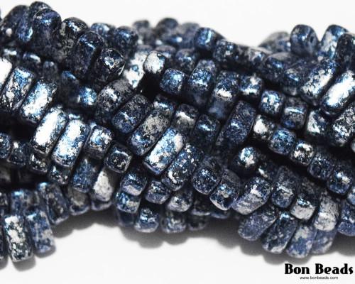 3x6mm Granite Galaxy Lapis 2 Hole Bricks (600 Pieces)