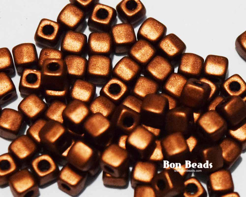 6/0 Old Copper Cubix® (50 Grams)