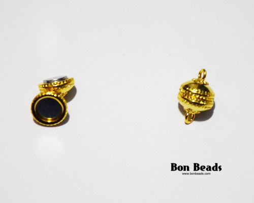 19x12mm Gold Saucer Magnetic Clasp (Each)