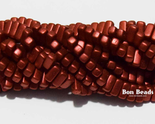 3x6mm Lava Red 2 Hole Bricks (600 Pieces)