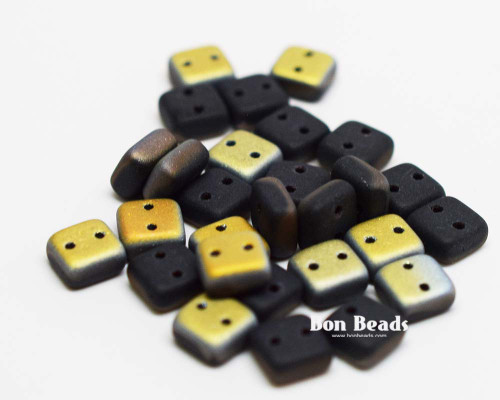 6mm Black Matted Vitex 2 Hole Chexx (50 Grams)