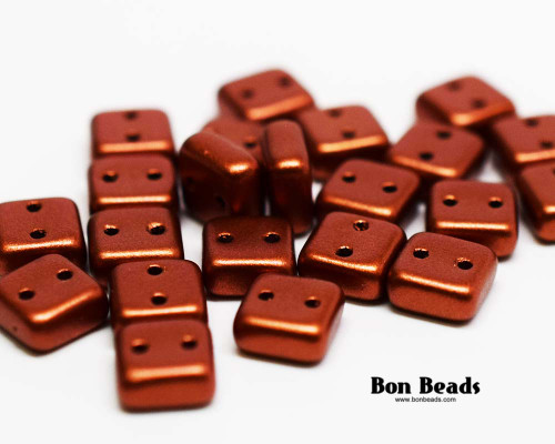 6mm Old Copper 2 Hole Chexx (50 Grams)