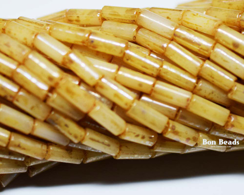 9x4mm Aged Wampum Honey Picasso Bugle (1/4 Kilo)